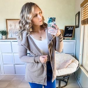 Nordstrom Stem Tunic Snap Front Lounge Jacket XS